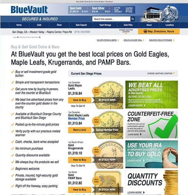 BlueVaultSecure web page